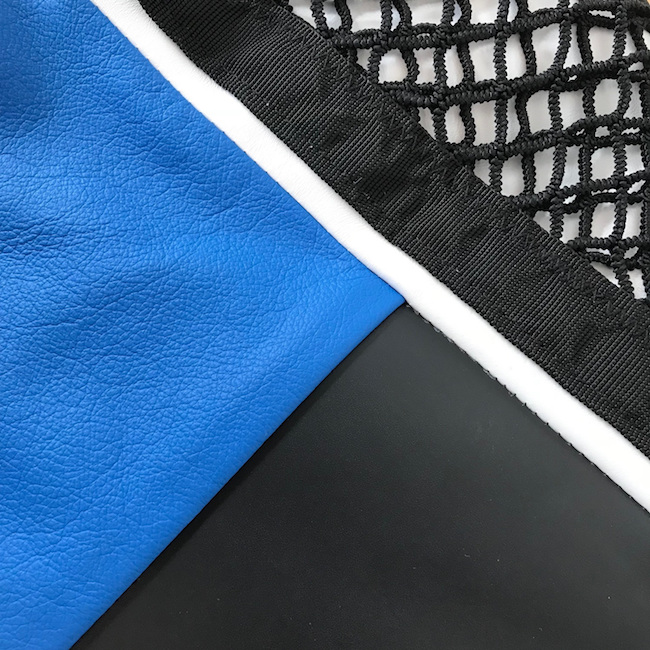 DJ shopper blauw detail